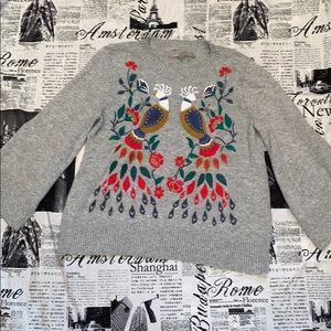 Loft bird embroidered sweater